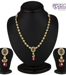 Buy Sukkhi Briliant Gold & Gold Plated CZ Rodo Light Necklace Set necklace-set online