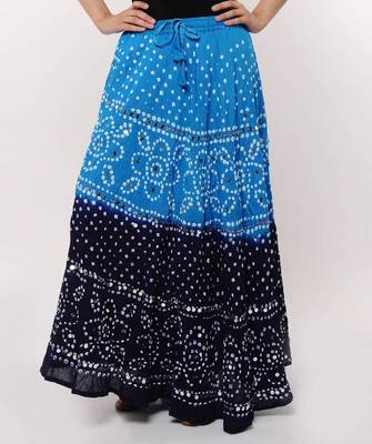 Blue Bandhej Skirt