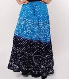 Buy Blue Bandhej Skirt skirt online