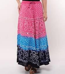 Tricolor Bandhej Skirt