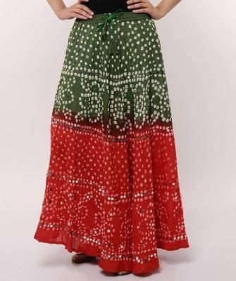 Ethnic Cotton Bandhej Skirt