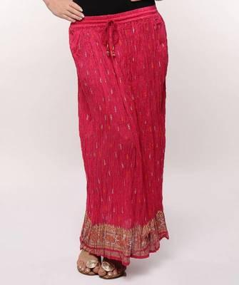 Pink Gold Print Skirt