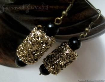 Golden and Black Stylish earrings