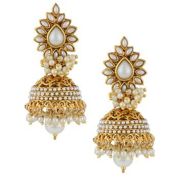Ethnic Indian Bollywood Fashion Jewelry Set Jhumki Earring