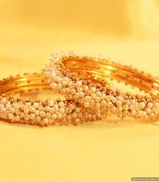 Buy Elegant Pearl Gold Look Bangles bangles-and-bracelet online