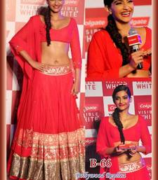 Buy Sonam Kapoor Bollywood Lehenga Red Color  sonam-kapoor-saree online