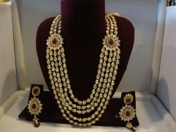 designer wedding set with earrings