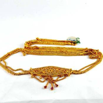 Gold Plated Stone Kandora Kankti Waist Belt