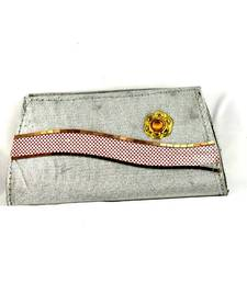 Buy fancy silver color clutch   clutch online
