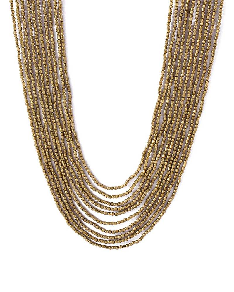 buy gold toned multi layered beaded necklace
