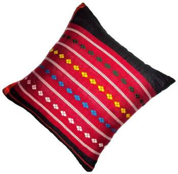 Hand woven cotton cushion covers from Weavers of Assam