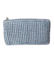 Buy Crochet Clutch in Grey clutch online