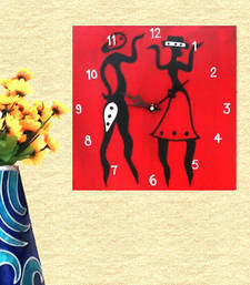 Wooden Wall Clock - Couple