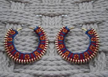 color carnival- handmade hoops MAROON