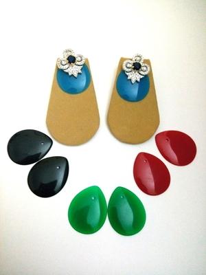 Red Black Blue Green Diamod Sapphire Changeable Earring