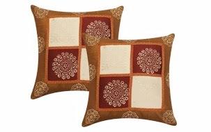 polysilk cushion cover- set of 2