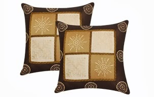 Brown color cushion cover- set of 2