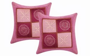 Pink Polysilk Cushion Covers