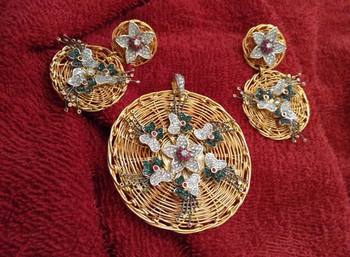 1gram gold polish aerican Diamond Pendant