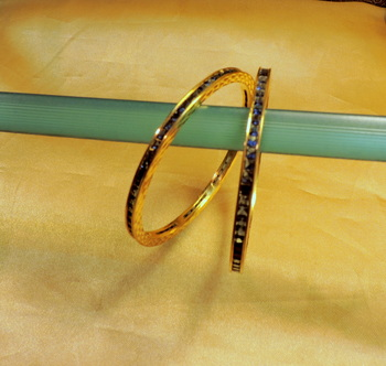 blue topaz elegant pair of bangles