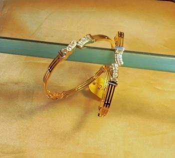 royal cz pair of bangles