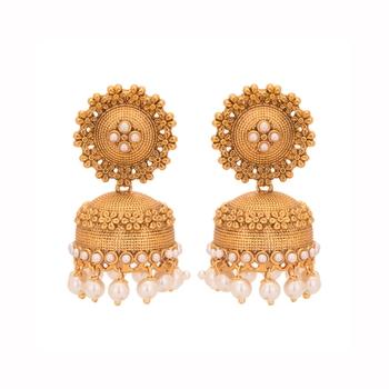 Copper Jhumki Wedding & Engagement Earrings