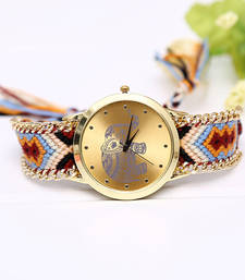 Buy New Fashion Women Braided Rope Wrist Watch For women gifts-for-wife online