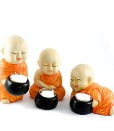 Buy Beautiful Set of 3 Monks Candles candle online
