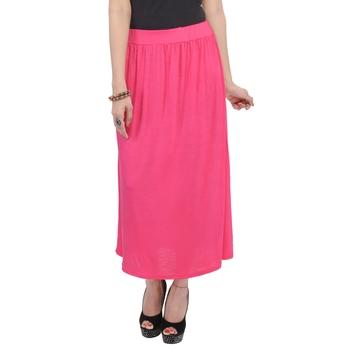 Pink plain cotton lycra skirts