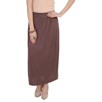 Brown plain cotton lycra skirts