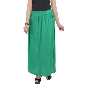 Green plain cotton lycra skirts