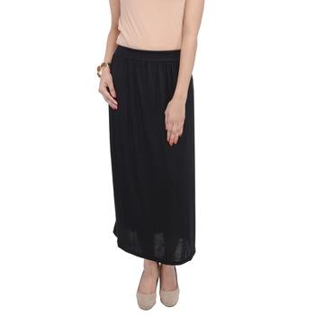 Black plain cotton lycra skirts