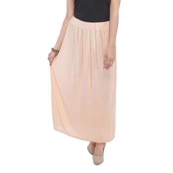Beige plain cotton lycra skirts
