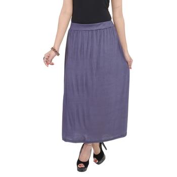 Grey plain cotton lycra skirts