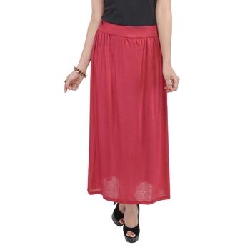 Maroon plain cotton lycra skirts