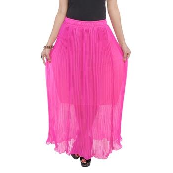 Pink wrinkled chiffon skirts