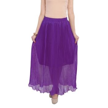 Purple wrinkled chiffon skirts