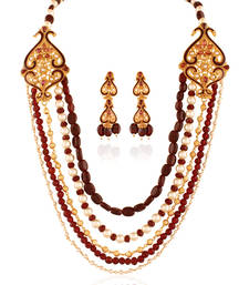 Buy Beauty Gold plated antique set necklace-set online