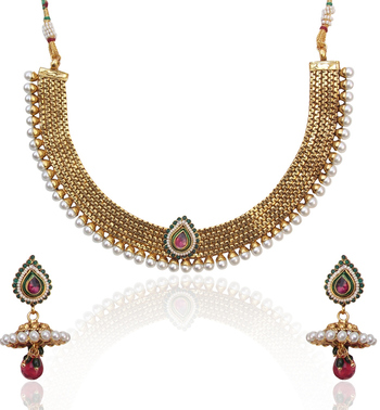 Traditional Pearly , Elegant & Simple Necklace Set s9 DDS 18