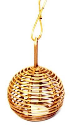 Handmade Cane hanging lamp shade round