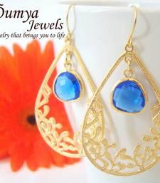 Buy Royal Blue Drop earrings danglers-drop online