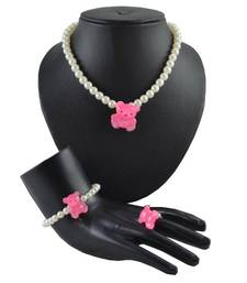 "Buy ANGEL GLITTER Gifts for Kids ""Teddy is Ready"" 3-piece Pearl Jewellery Set gifts-for-kid online"