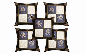 Hand Printed Cushion Cover- Set of 5