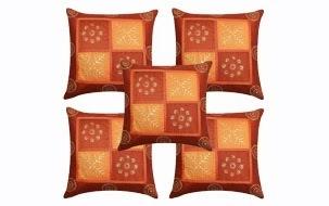 Orange Cushion Covers- Set of 5