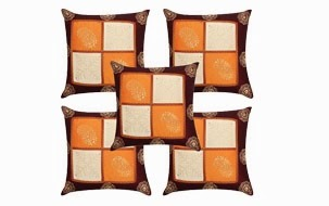 Best Selling Gold Print Cushion Cover-Set of 5