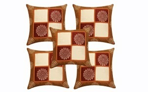 Stunning Golden Cushion Cover-Set of 5