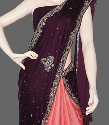 Buy Bridal Wine-2 satin-saree online
