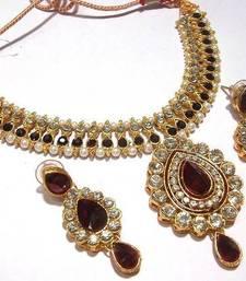 Buy Butterfly Necklace Set With Earrings diwali-jewellery online