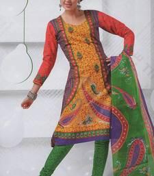 Buy Beautiful cotton salwar kameez dress-material online