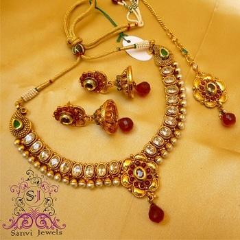 Paisley Polki & Kundan Necklace